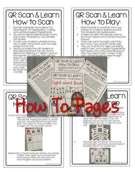 QR Scan & Learn~ Interactive Sight Word Book {FIRST GRADE}