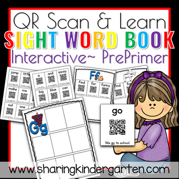 QR Scan & Learn~ Interactive Sight Word Book {PrePrimer}