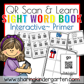 QR Scan & Learn~ Interactive Sight Word Book {Primer}