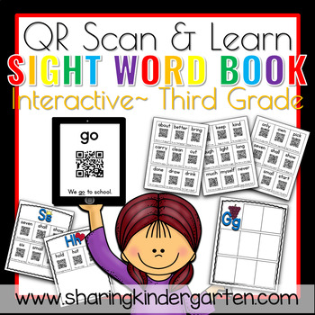 QR Scan & Learn~ Interactive Sight Word Book {THIRD GRADE}