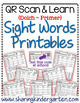 QR Scan & Learn~Sight Word Printables~ Dolch Primer