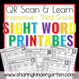 QR Scan & Learn~Sight Word Printables~ Dolch Third Grade