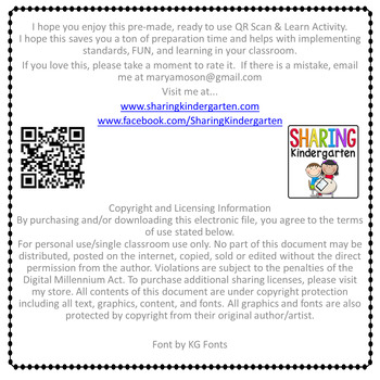 QR Scan & Learn~Sight Word Printables~ Fry 1-100