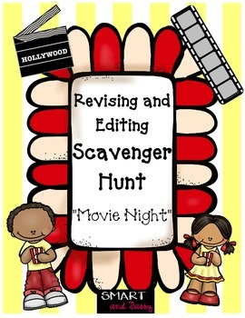4th Grade QR Scavenger Hunt ELA Editing TEKS Aligned STAAR Review