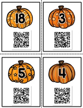 QR Math Scavenger Hunt - Addition & Subtraction to 20