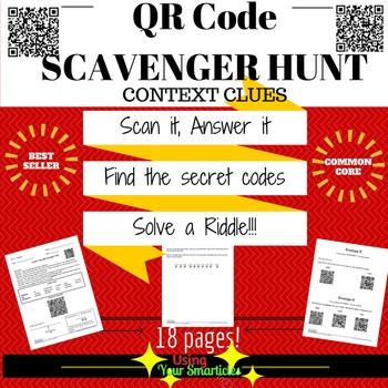 QR Scavenger Hunt - Context clues using QR Codes