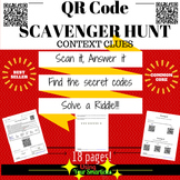 QR Scavenger Hunt - Context clues using QR Codes
