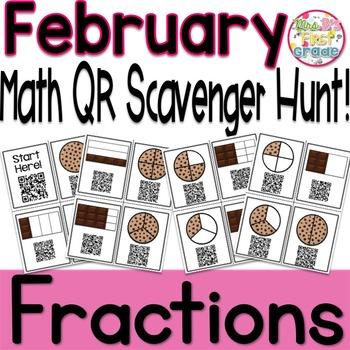 QR Math Scavenger Hunt - Fractions
