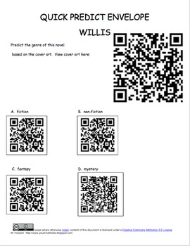 QR Scavenger Hunt -Making Predictions QR Codes
