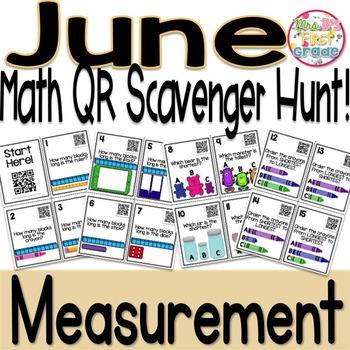 QR Math Scavenger Hunt - Measurement