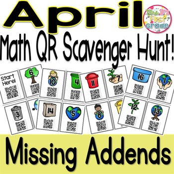 QR Math Scavenger Hunt - Missing Addends