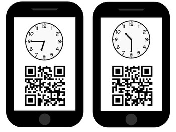 QR Scavenger Hunt Telling Time to 15 Minutes