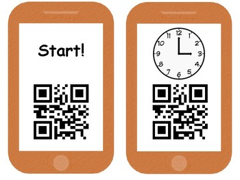 QR Scavenger Hunt Telling Time to the Hour and Half Hour