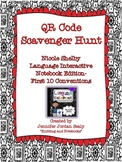 QR Scavenger Hunt for 3rd Grade Language Interactive Notebook