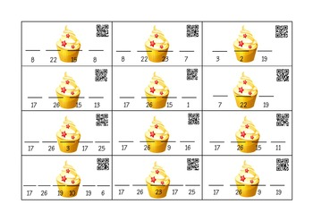 QR Secret Code Breaker Cupcake Game