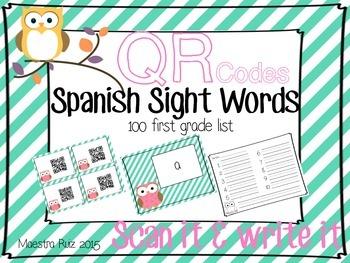 QR Sight Words (Spanish)