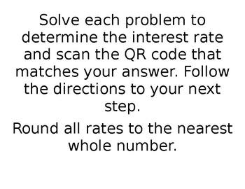 QR Simple Interest QR Code Scavenger Hunt