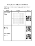 QR Solving Systems of Equations Worksheet