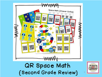 QR Space Math Review Game