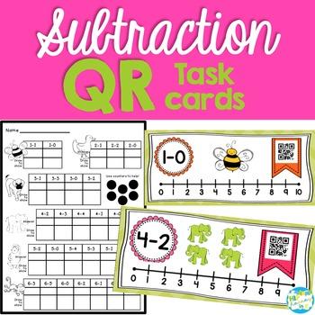 QR Subtraction Cards