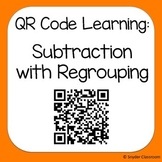 QR Code Subtraction with Regrouping Worksheets