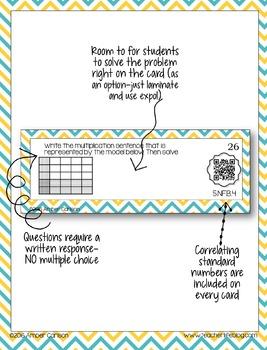 Multiplying Fractions QR Task Cards - 5NF4-