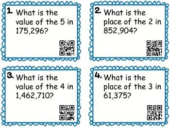QR Task Cards: Place Value