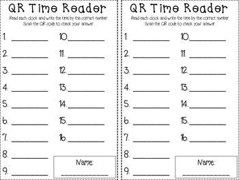 QR Time Reader
