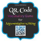 QR Code Vocabulary Game - Argumentative Writing
