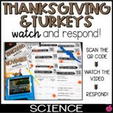 QR Watch and Respond Sheet Turkeys & Thanksgiving - November