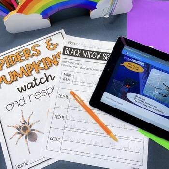 QR Watch and Respond Sheet Pumpkins & Spiders - October