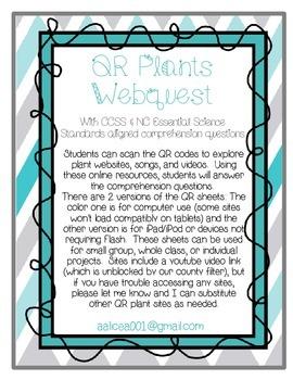 QR Webquest- Plants