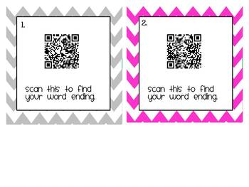 QR Word Family Workstation: Taco Edition!