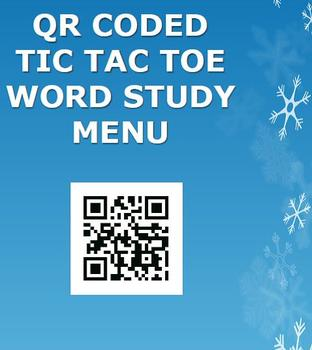 QR Coded Word Study Snow Day!!!