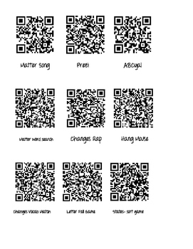 QR anchor activity for States and Changes of Matter