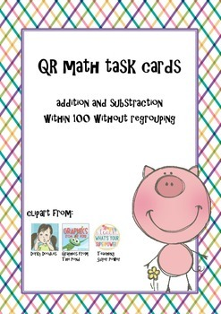QR-cards add and subtract within 100 without regrouping