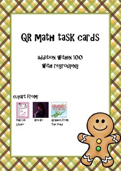 QR-cards addition within 100 with regrouping