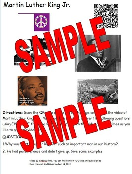 QR code Martin Luther King Jr. Evidence Based Writing Project