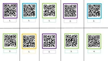 QR code Social Questions Activity