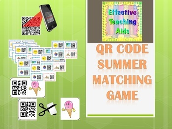 QR code! Summer matching activity