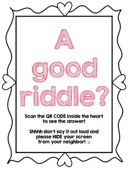 QR code Valentine Riddles