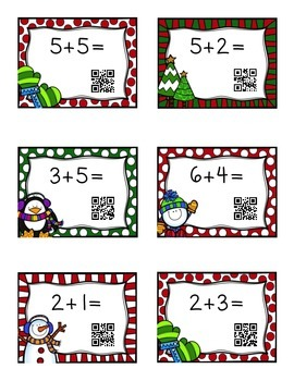 QR code What's the sum (winter theme)