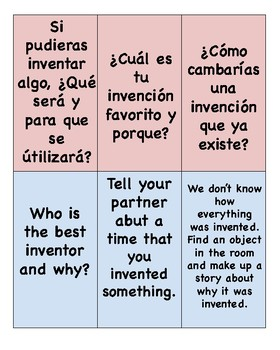 QR code bilingual Center Dual Language Inventors & Inventions Spanish/English