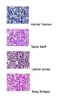 QR code books about Kid Friendly Famous People