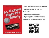 QR code link to book trailer for Al Capone Does My Shirts