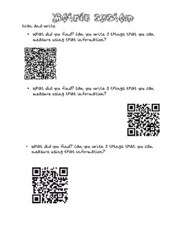 QR code metric system(ENGLISH)