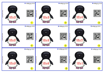 QR code multiplication cards: Let's multiply by 5, 15,25