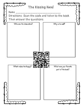 QR code reading comprehension sheets