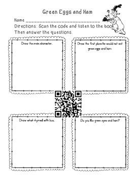 QR code reading comprehension sheets