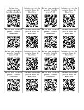 QR code rewards (German)